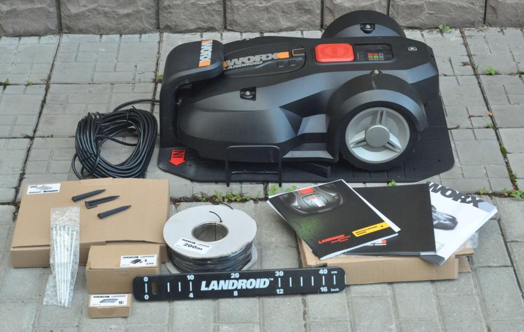 Фото 3.1.1 В коробке Worx WG795E Landroid покупатель найдет все, что необходимо для установки и ничего лишнего