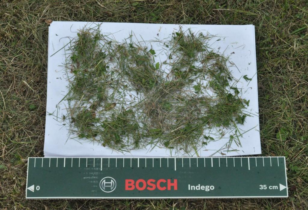 Фото 6.1.4. Фракция скошенной травы после рабочего цикла Bosch