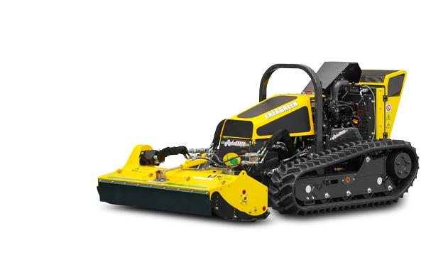 Робот с насадкой для стрижки травы