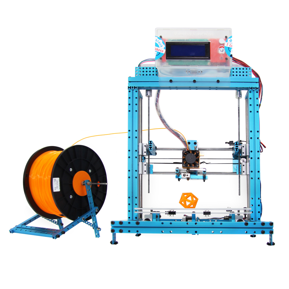 Новинка 2014 года. 3Д-принтер своими руками из деталей MakeBlock.