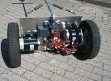 Собранный робот, вид снизу