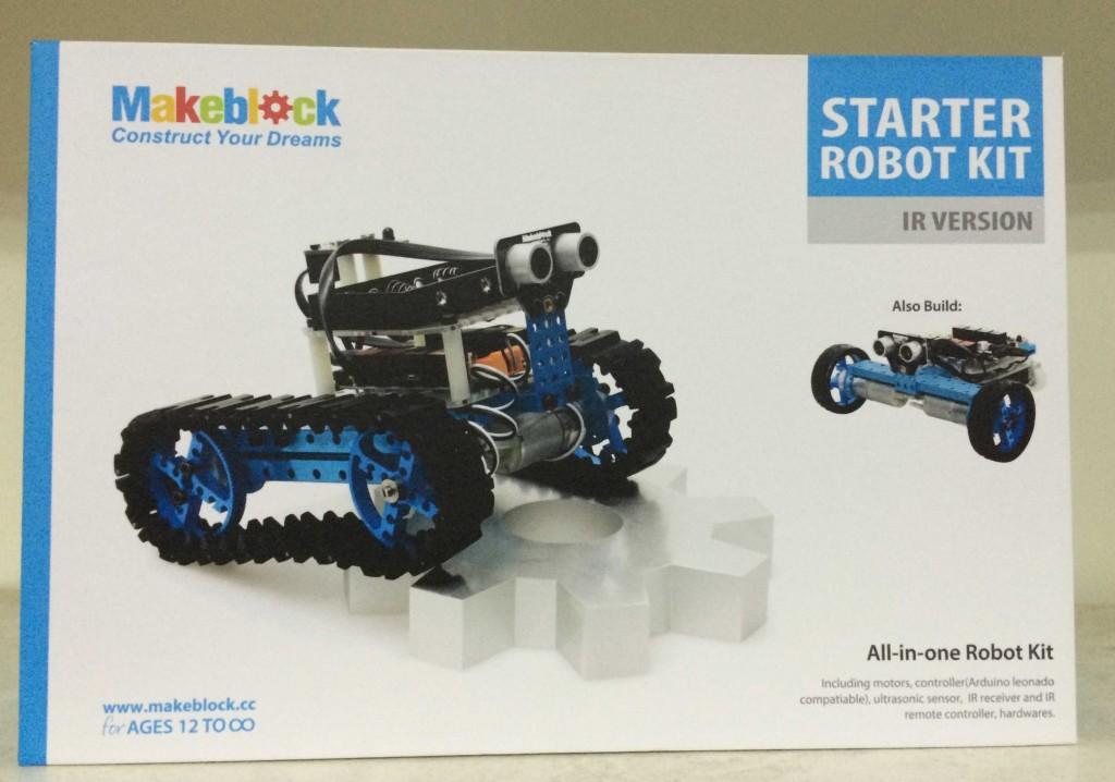 А так - стартовый набор для сборки гусеничного или колесного робота.